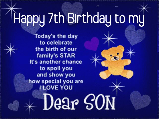 74 Best Happy 7th Birthday Wishes Messages Quotes Images