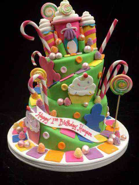 For 1Year Olds Candyland birthday cake pictures