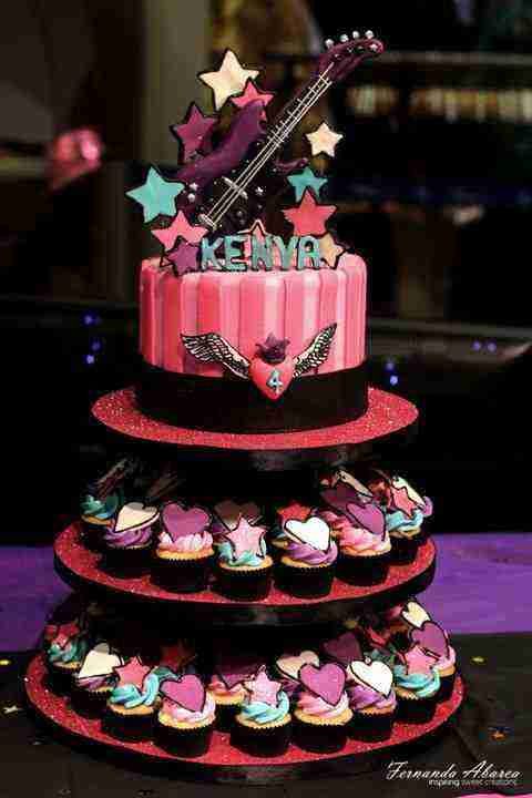 Rockstar Inspired birthday cake pictures