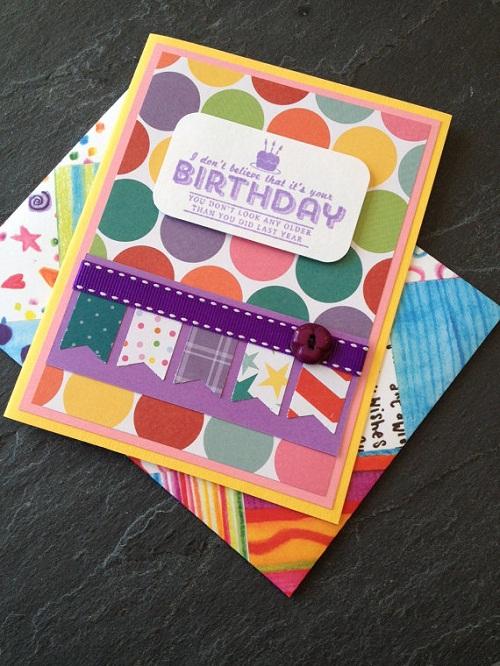 Circles and Ribbons Handmade Greeting Cards