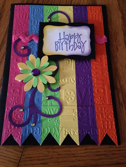 Colorful Flower Handmade Greeting Cards