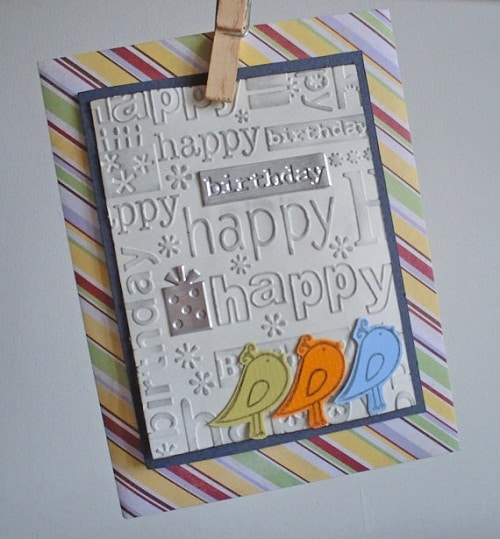 Embossed Handmade Greeting Cards