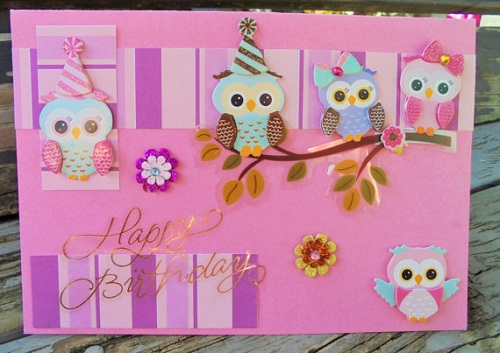 Owls Handmade Greeting Cards