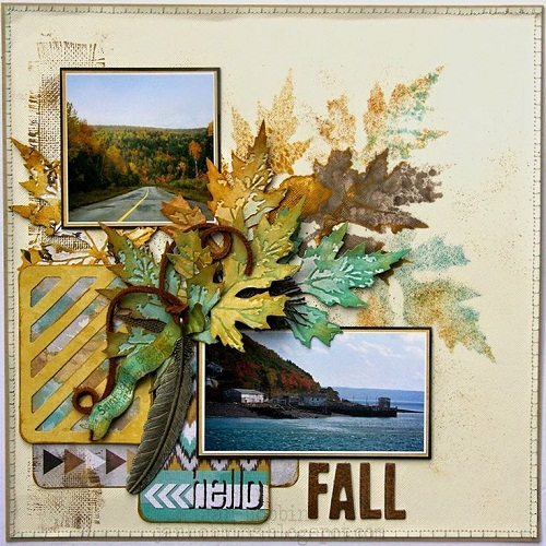 Dried Leaves Scrapbook Ideas