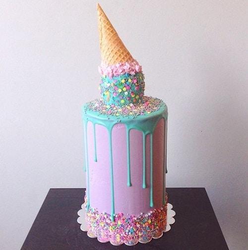 Ice Cream Images of Birthday Cakes