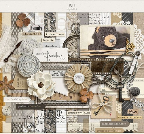 Printed Papers Scrapbook Ideas