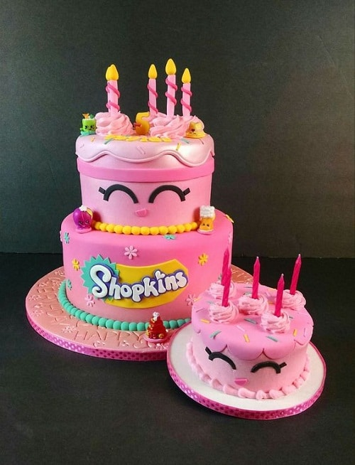 Cute Shopkins Birthday Cakes for Girls