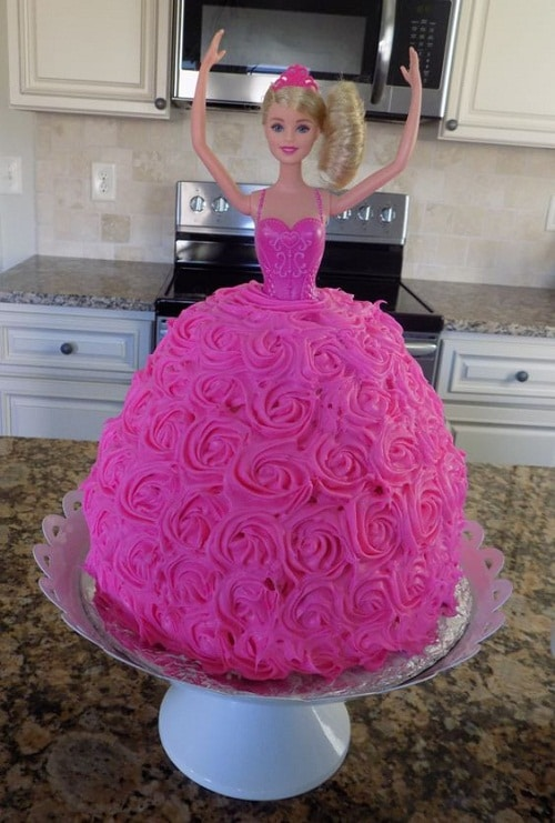 Pink Barbie Birthday Cakes for Girls