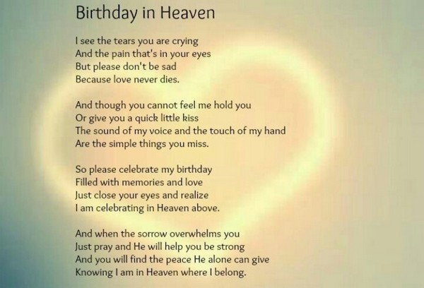 Birthday Poem For Dad In Heaven