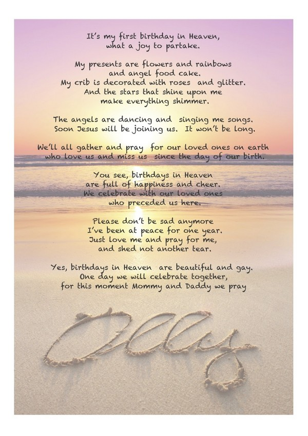29 First Birthday In Heaven Quotes Audi Quote