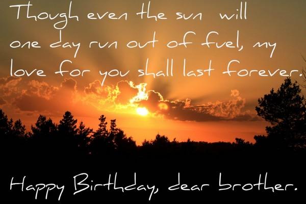 Brother Happy Heaven Quotes Birthday Big