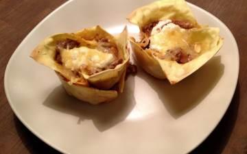 mini lasagna's