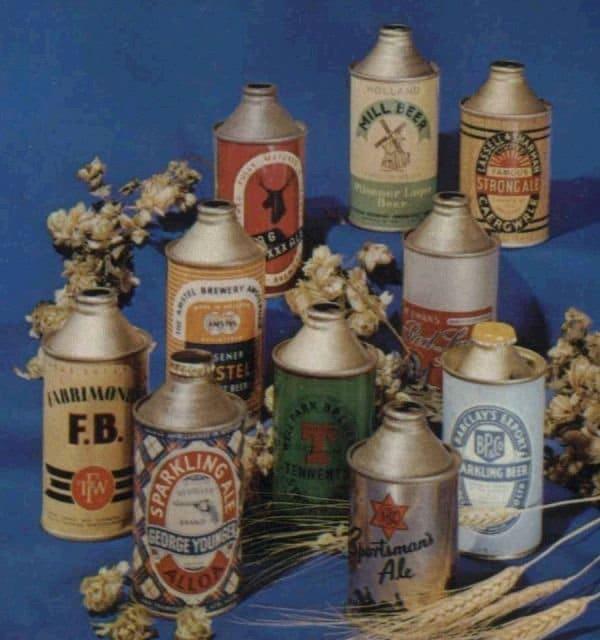 Foodverzamelingen: oude bierblikken