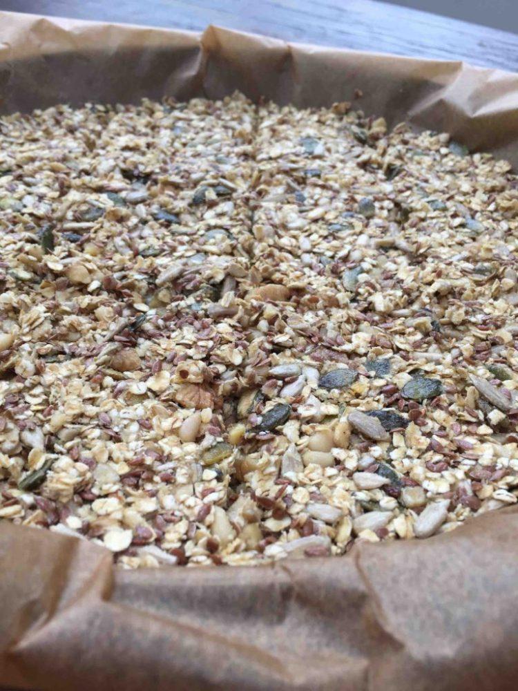 crackers met havermout en zaden