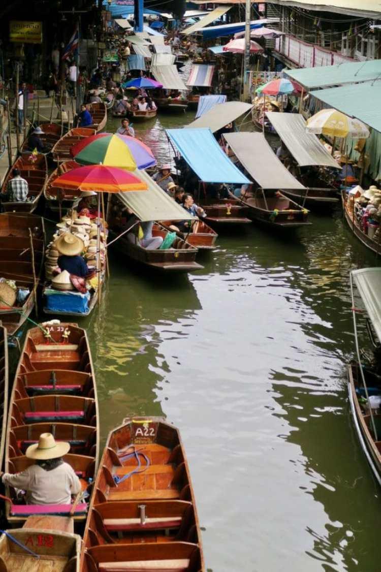 vakantie in Thailand - drijvende markt