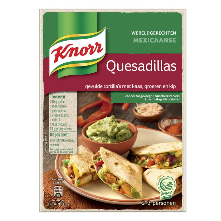 Knorr quesadillas