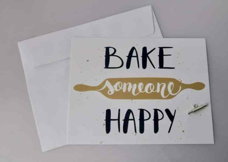 wenskaart bake someone happy webwinkel