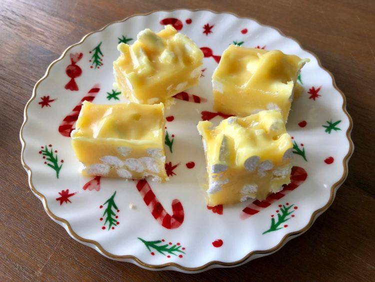 lemon meringue fudge - homemade kerstcadeaus