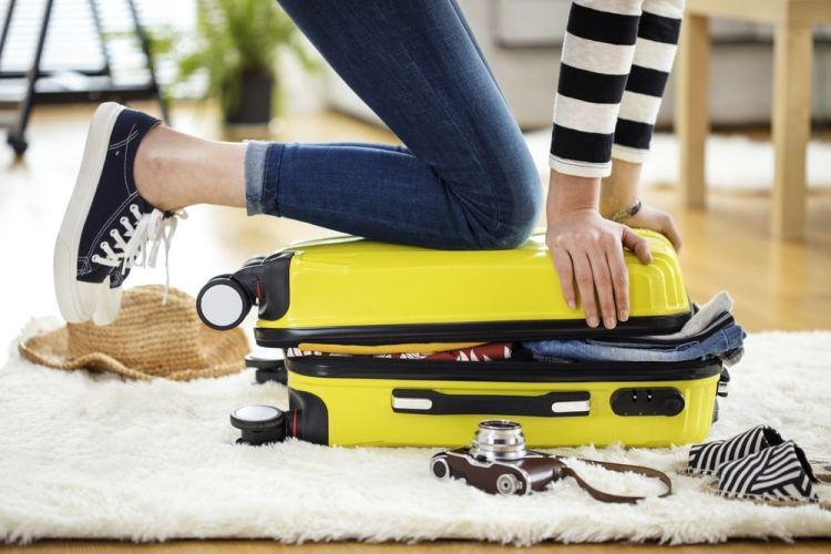 goed voorbereid op reis - volle koffer