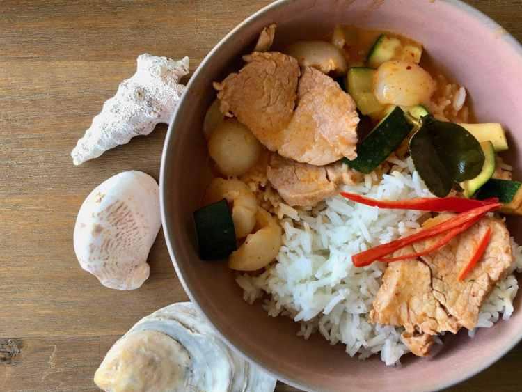 Panang curry met varkenshaas