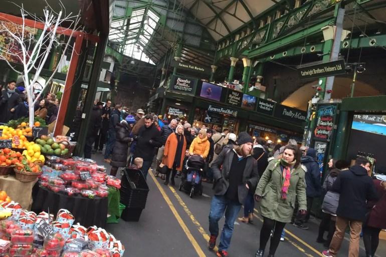 Einer der ältesten Lebensmittelmärkte Londons: der Borough Market