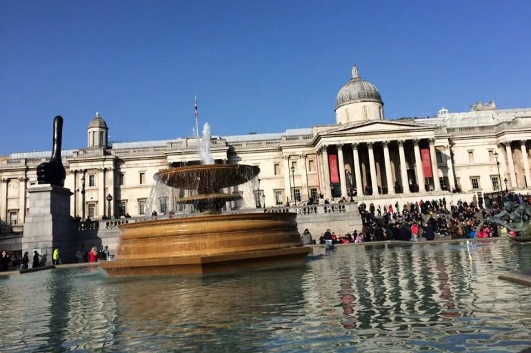 Der Trafalgar Square ist das eigentliche Zentrum von London