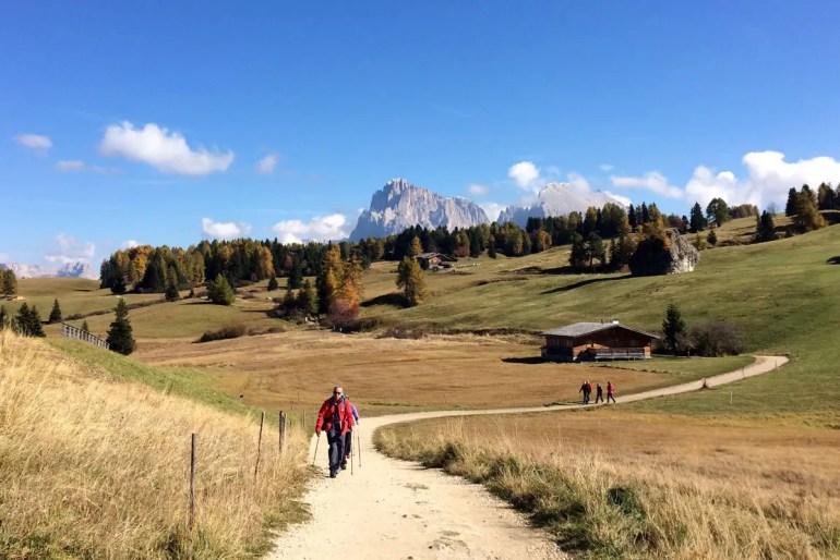 Auf der Seiser Alm in Südtirol gibt es Wanderwege in allen Schwierigkeitsstufen