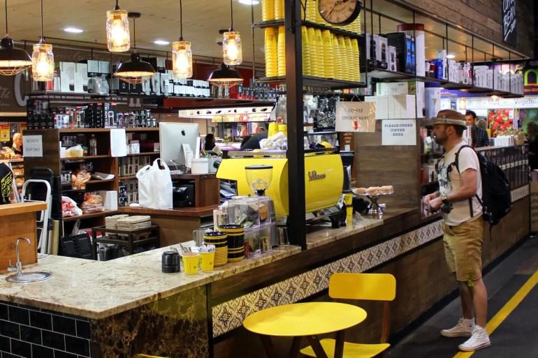 Auch in Adelaide gibt's auf dem Markt leckeren Kaffee