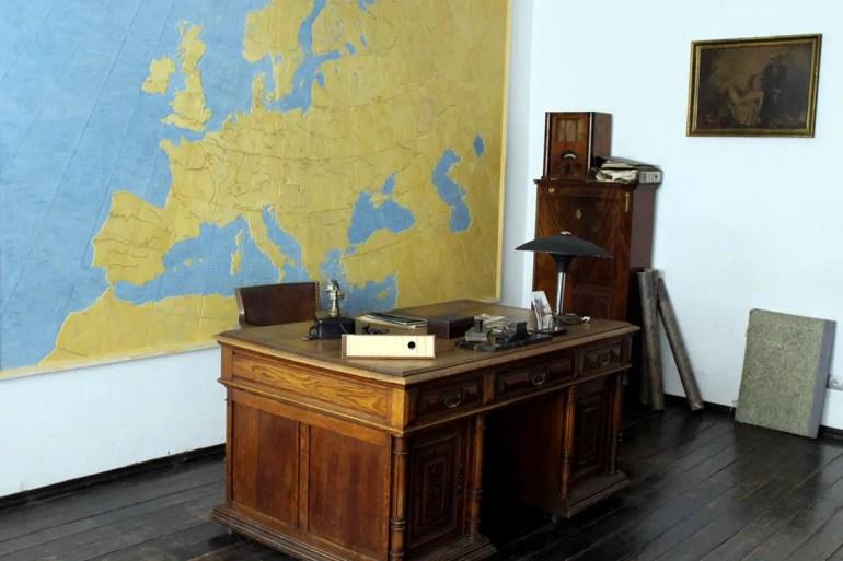Der ehemalige Schreibtisch von Oskar Schindler