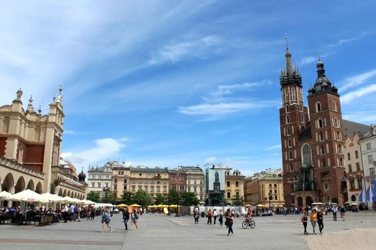 Der Rynek Glowny ist einer der größten mittelalterlichen Marktplätze Europas