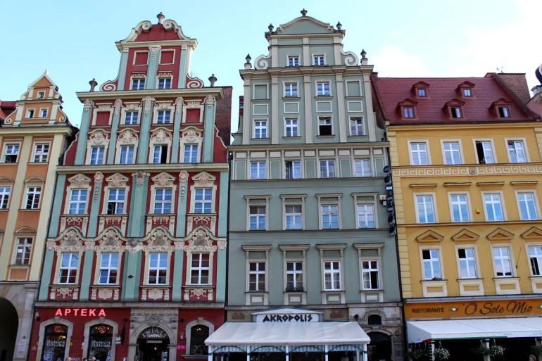 Hübsche Fassaden am Hauptmarkt