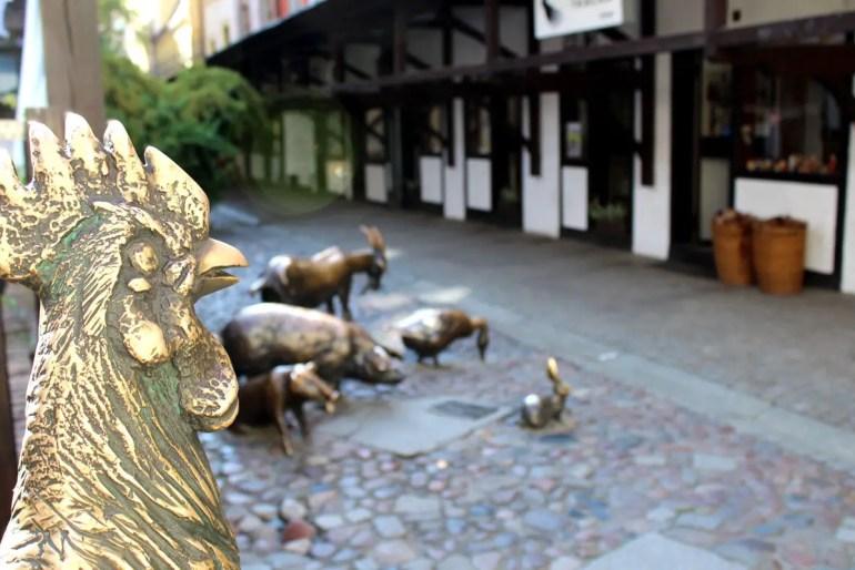 Ein Denkmal erinnert an die Tiere in der Schlachtgasse