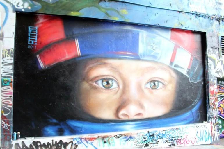 Neben Tags und Graffitis gibt es auch immer wieder fast fotografisch genaue Werke