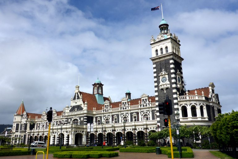 Schottische Architektur am Ende der Welt bietet Dunedin