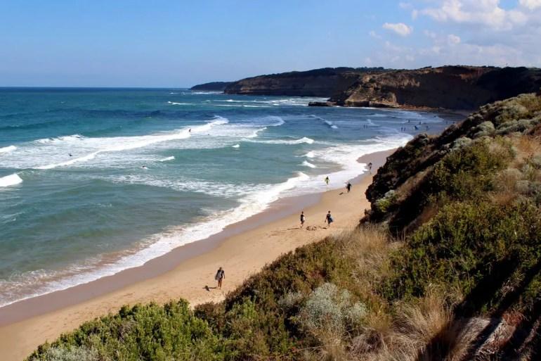 Kultstrand und nicht nur bei Surfern beliebt ist der Bells Beach bei Torquay