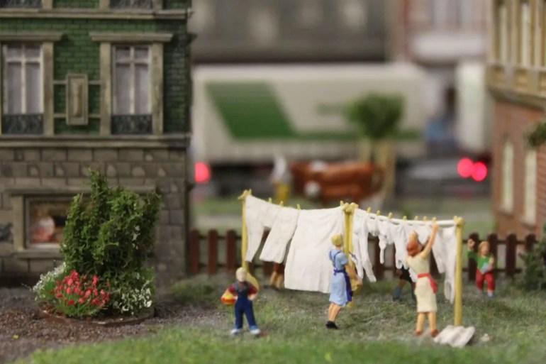 Auch in einer Miniaturwelt muss mal die Wäsche gewaschen werden