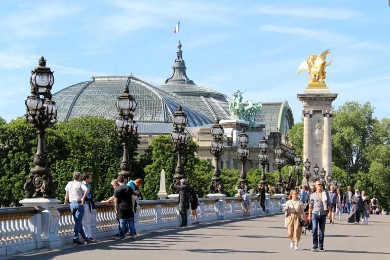 Das Grand Palais und die Pont Alexandre III