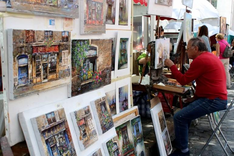 Am Place du Tertre zeigen auch heute noch dutzende Künstler ihr Können