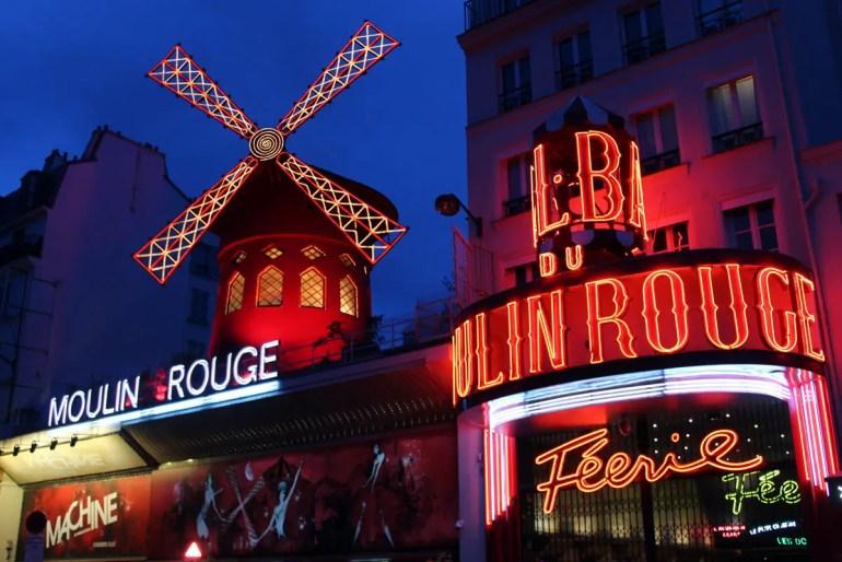 Der wohl berühmteste Nachtclub von Paris: die Moulin Rouge