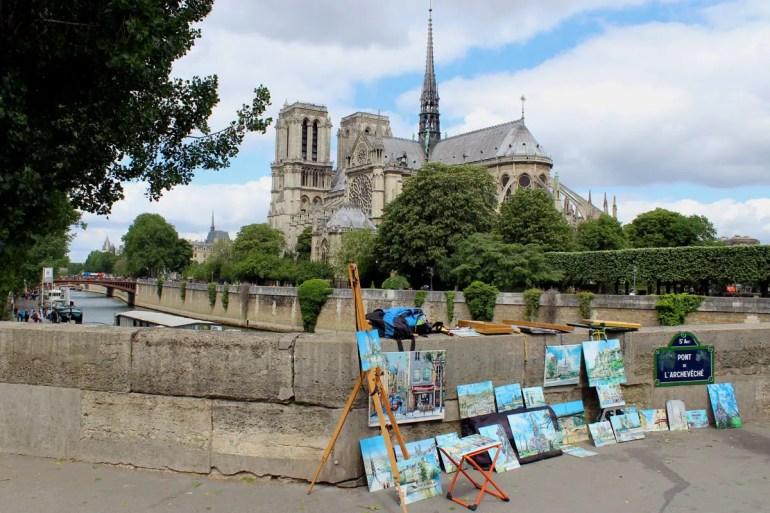 Eines der Wahrzeichen von Paris: Notre Dame