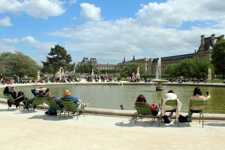 Der Jardin des Tuileries ist perfekt für eine kleine Pause