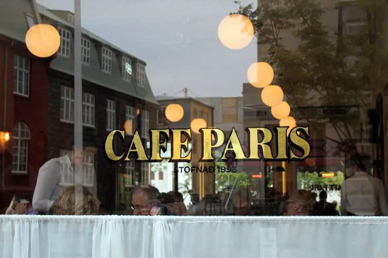 Das Café Paris ist eine der Adressen in Reykjavíks Zentrum