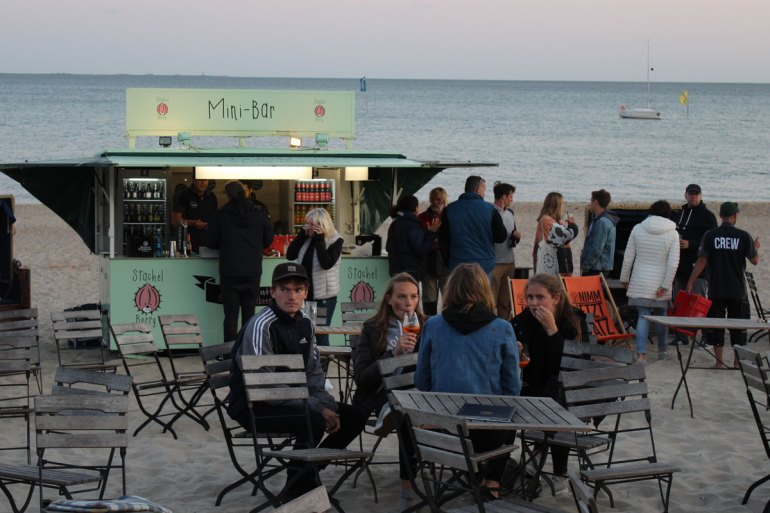 Party am Strand im Schapers