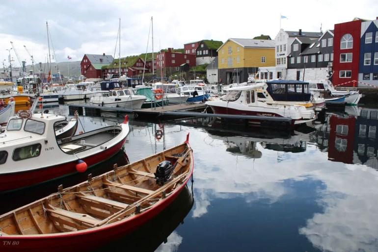 Der Osthafen in Tórshavn ist besonders pittoresk