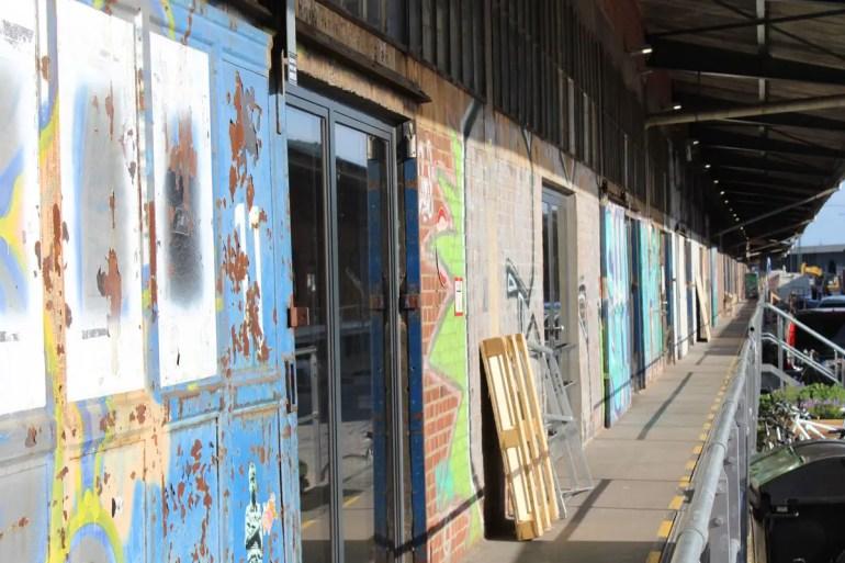 Kreativquartier: die alten Lagerhallen im Oberhafen
