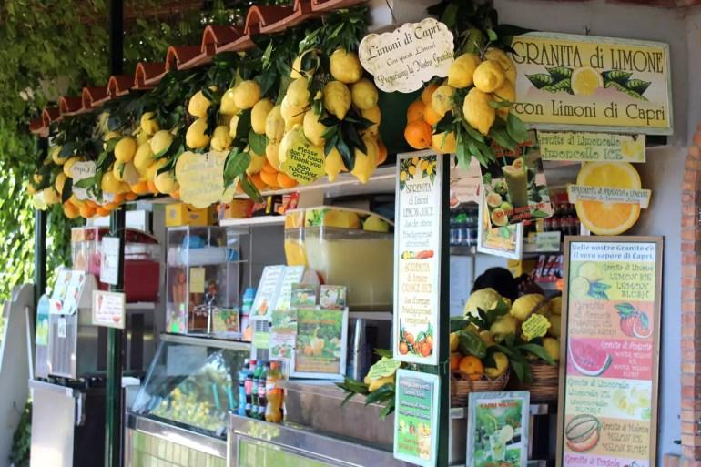 Zitronen stehen auf Capri fast überall im Mittelpunkt