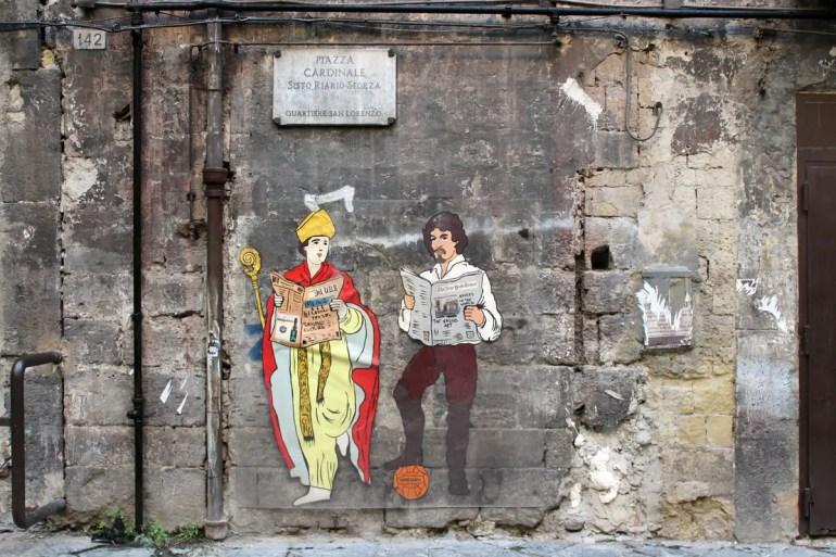 Bunte Streetart in Neapels Altstadt
