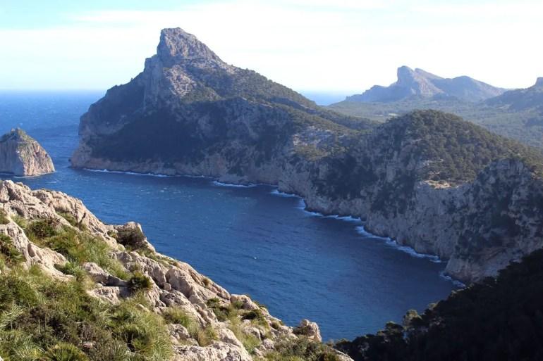 Der Blick über das Meer zum Cap Formentor