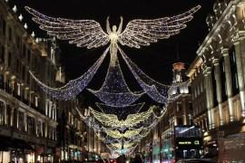 Zur Weihnachtszeit glitzert ganz London: Besonders hübsch sind die Engel in der Regent Street