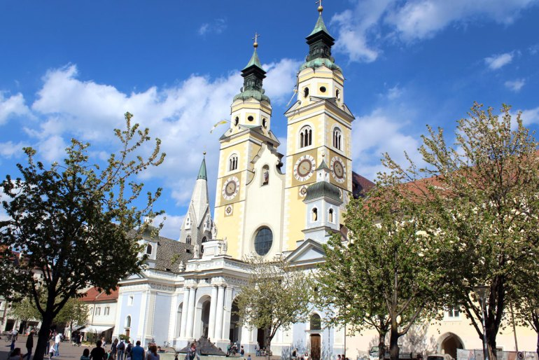 Markantes Zentrum der Bischofsstadt Brixen ist der Dom